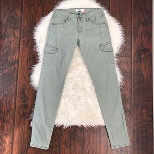 CAbi Caledon Cargo Green Skinny Jeans